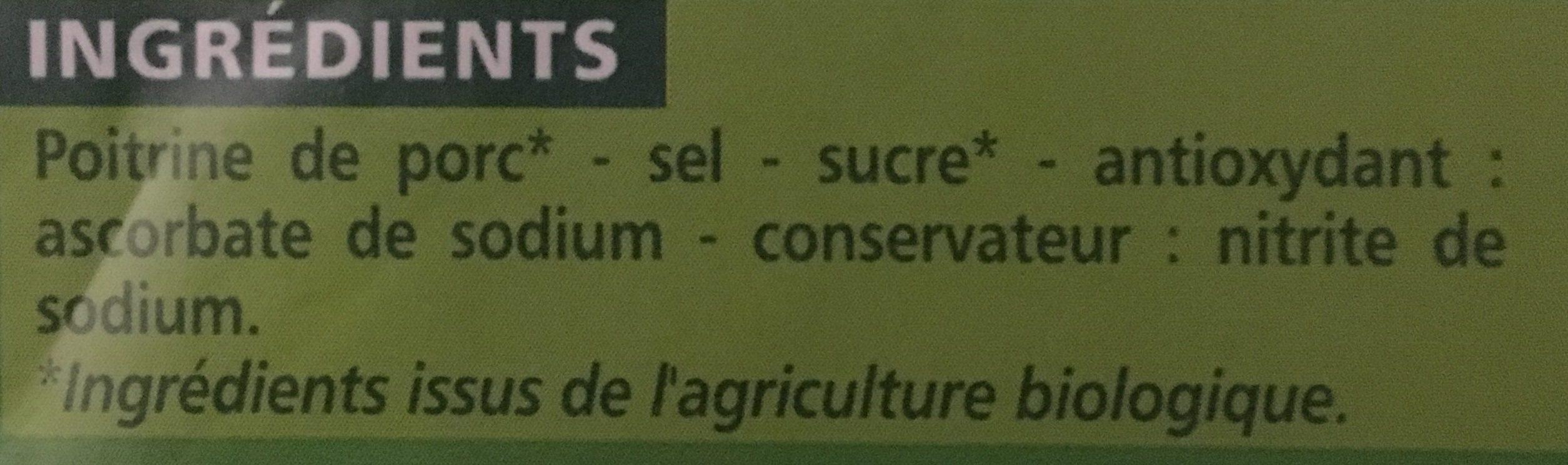 Lardons nature - Ingrédients