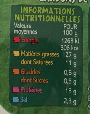 Lardons nature - Informations nutritionnelles - fr