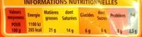 Fromage fondu hamburger - Informations nutritionnelles - fr