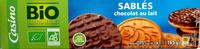 Sablés Chocolat lait - Produit - fr