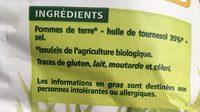 Chips ondulées paysannes - 成分 - fr