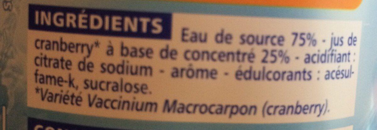 Boisson au jus de cranberry light - Ingrédients - fr