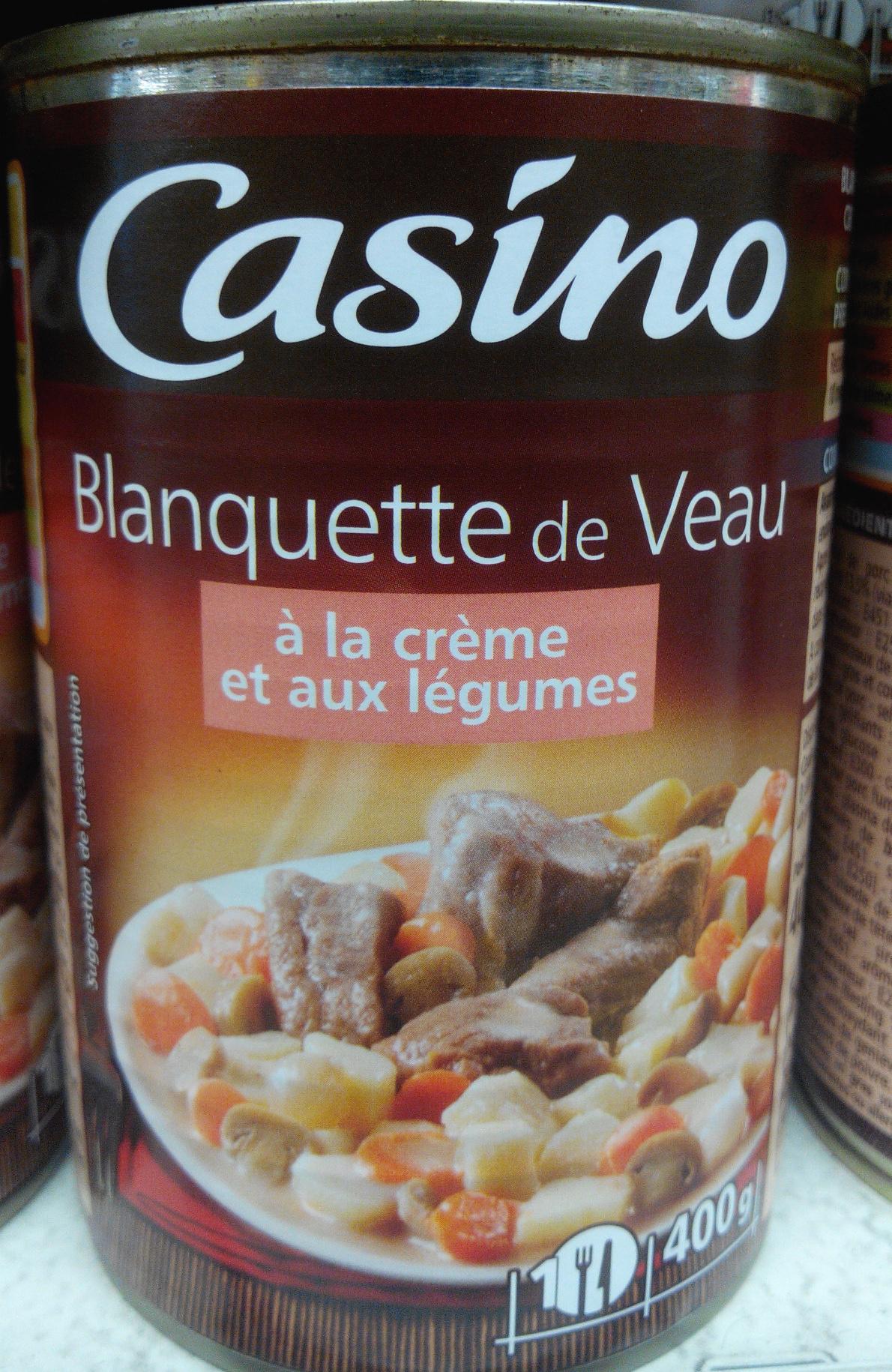 Blanquette de veau la cr me et aux l gumes casino 400 g 1 portion - Rognons de veau a la creme ...
