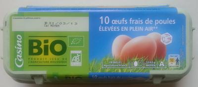 10 œufs frais de poules élevées en plein air* - Product