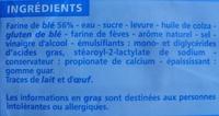 Pain de mie - sans croûte - 14 tranches - Ingrediënten