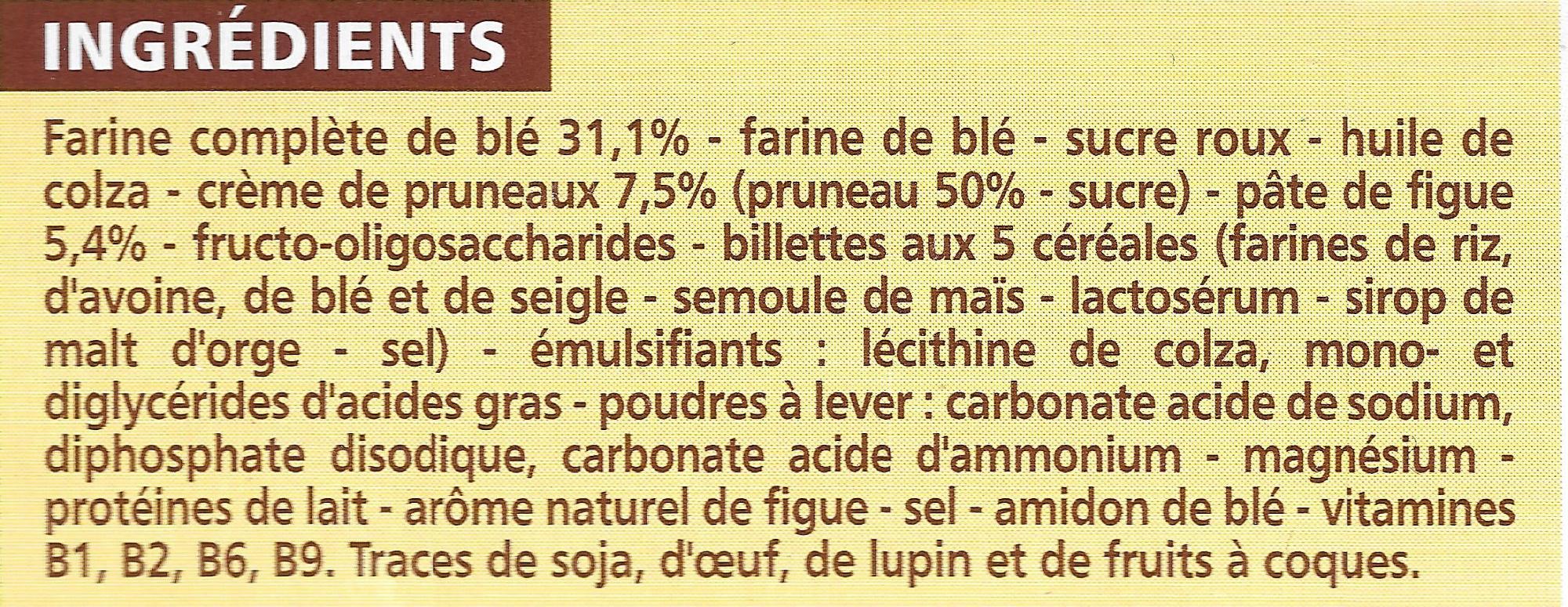 Biscuits Pruneau et Figue - Ingrediënten - fr