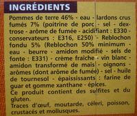 Tartiflette - Ingrédients - fr