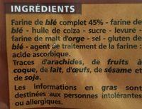 KROAST Blé Complet - recette suédoise - Ingredienti - fr