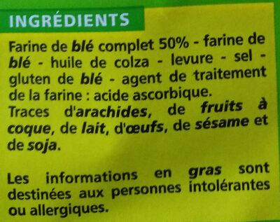 Korast Blé Complet Sans Sucres Ajoutés - Ingrédients