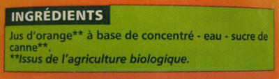 Nectar Orange À Base de Concentré - Ingrediënten - fr
