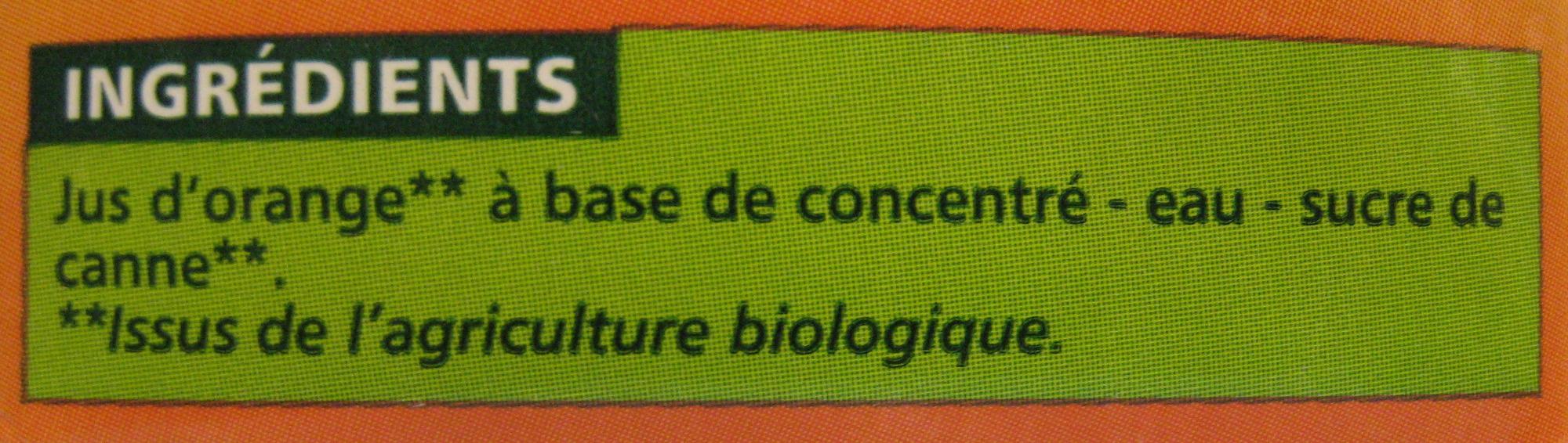Nectar Orange À Base de Concentré - Ingrediënten