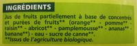Nectar Multifruits À Base de Concentrés et de Purées de Fruits - Ingrediënten - fr