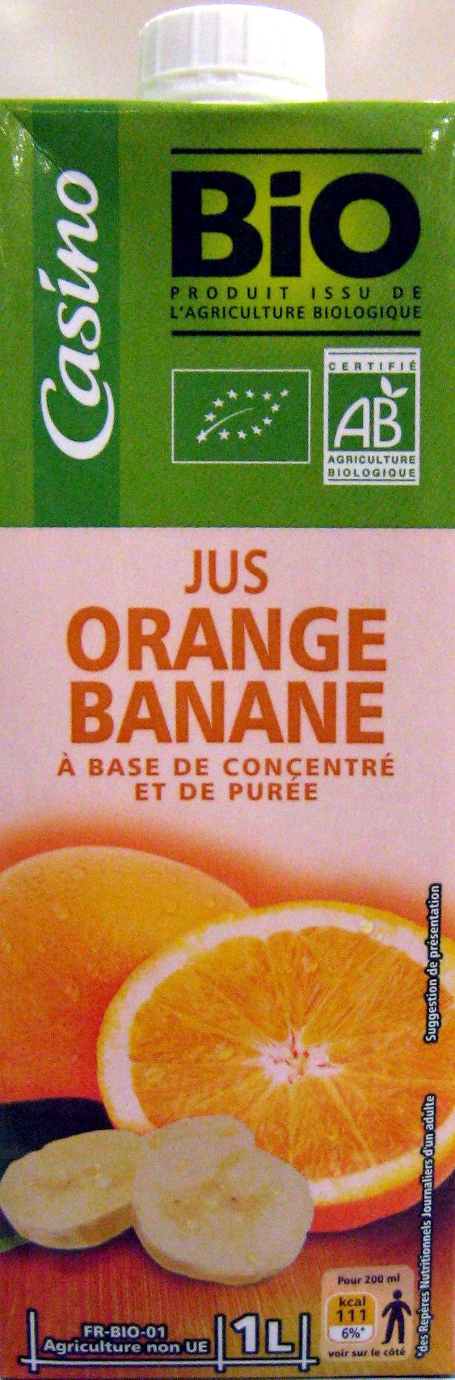 Jus Orange Banane à base de concentré et de purée - Product - fr