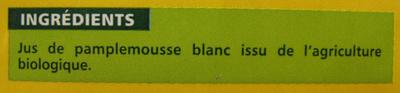 100 % Pur Jus Pamplemousse blanc - Ingrédients - fr