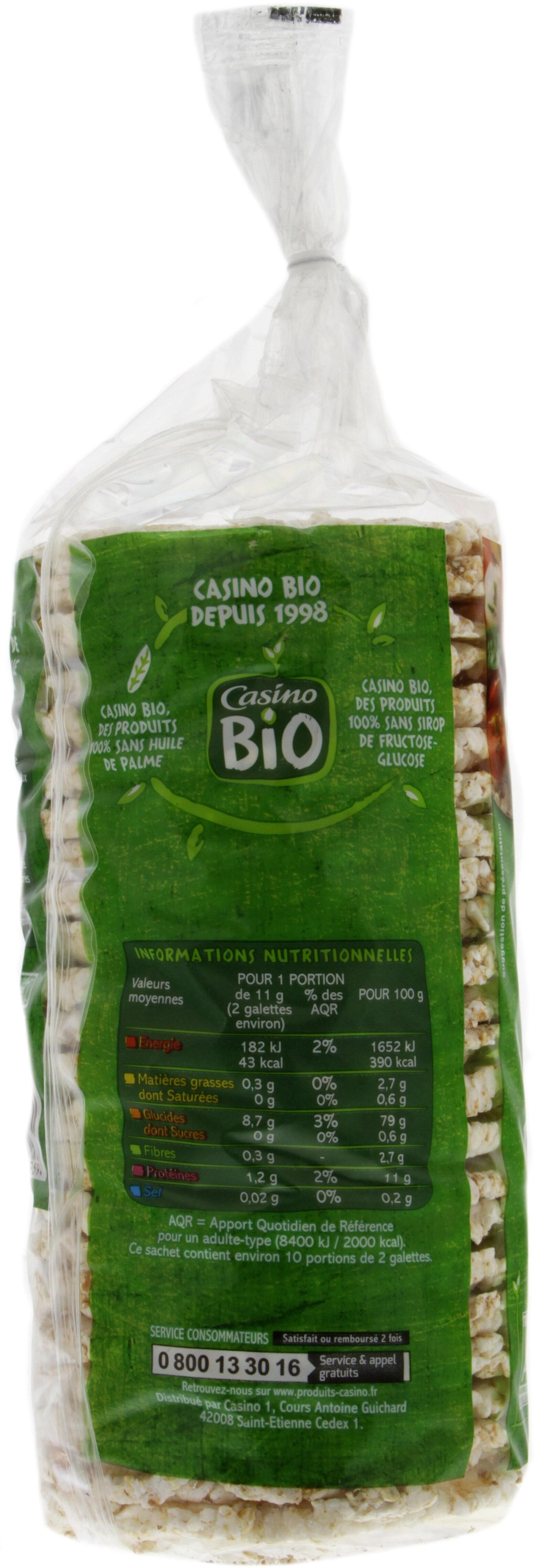 Galettes riz sarrasin - fines - Voedingswaarden - fr