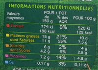 Yaourt de brebis à la grecque Biologique - Voedingswaarden - fr