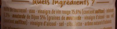 Sauce vinaigrette Echalote & moutarde - Ingrediënten