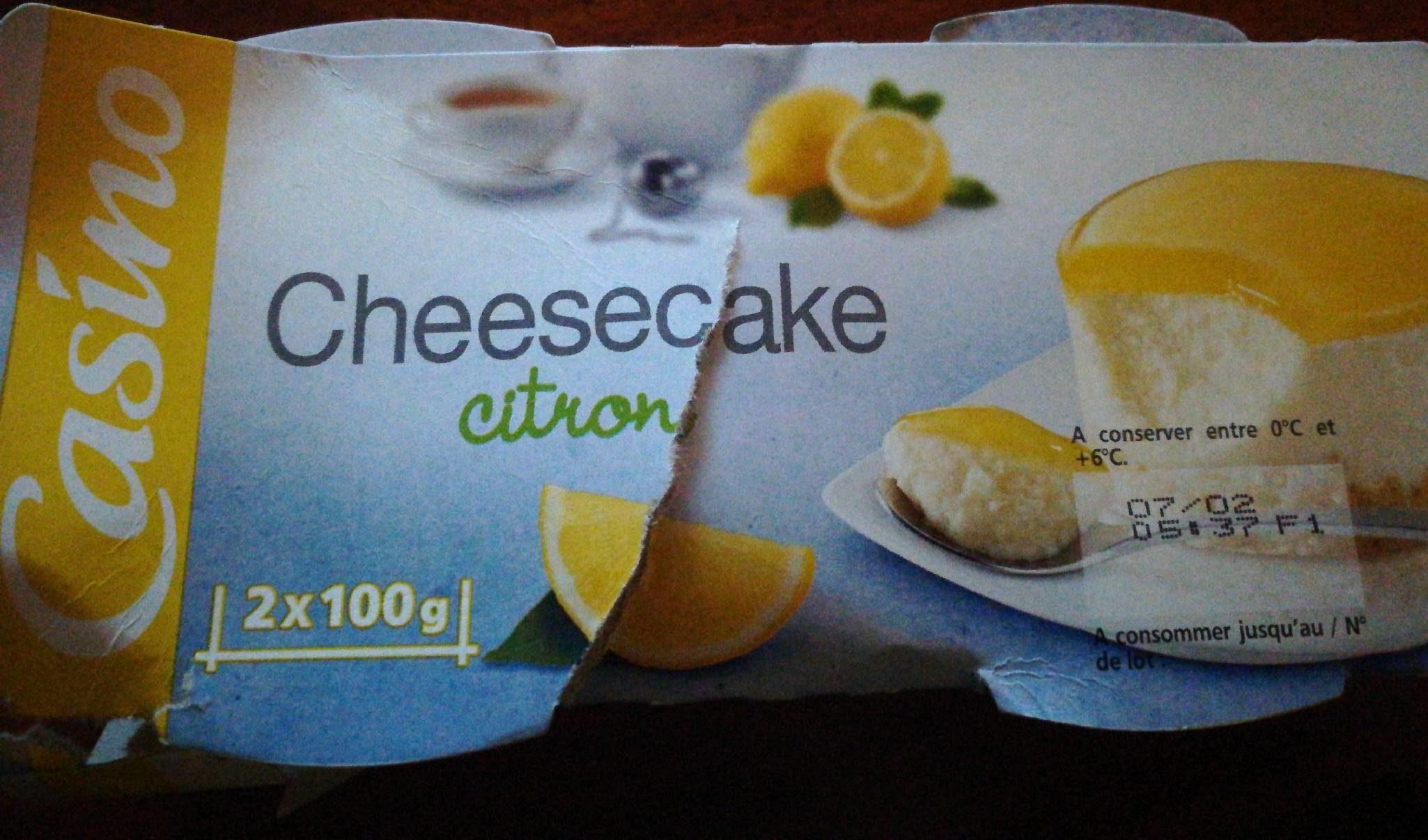 Cheesecake Citron - Produit - fr