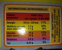 Cheesecake Citron - Nutrition facts