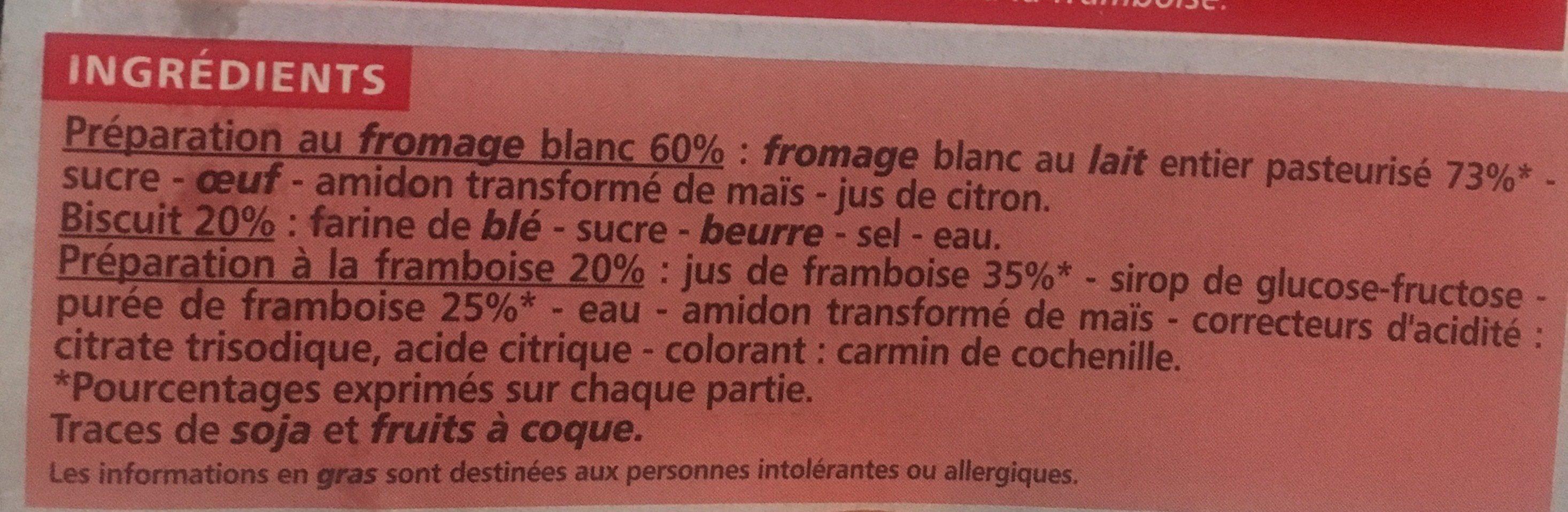 Cheesecake Framboise - Ingrédients - fr