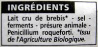 Roquefort AOP - Ingrédients