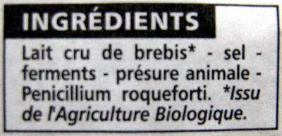 Roquefort AOP - Ingrédients - fr