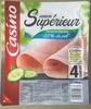 Jambon Supérieur découenné dégraissé -25% de sel par rapport à la moyenne des jambons cuits supérieurs du marché - Produit