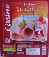 Jambon Supérieur -25 % de Sel Avec Couenne - Produit - fr
