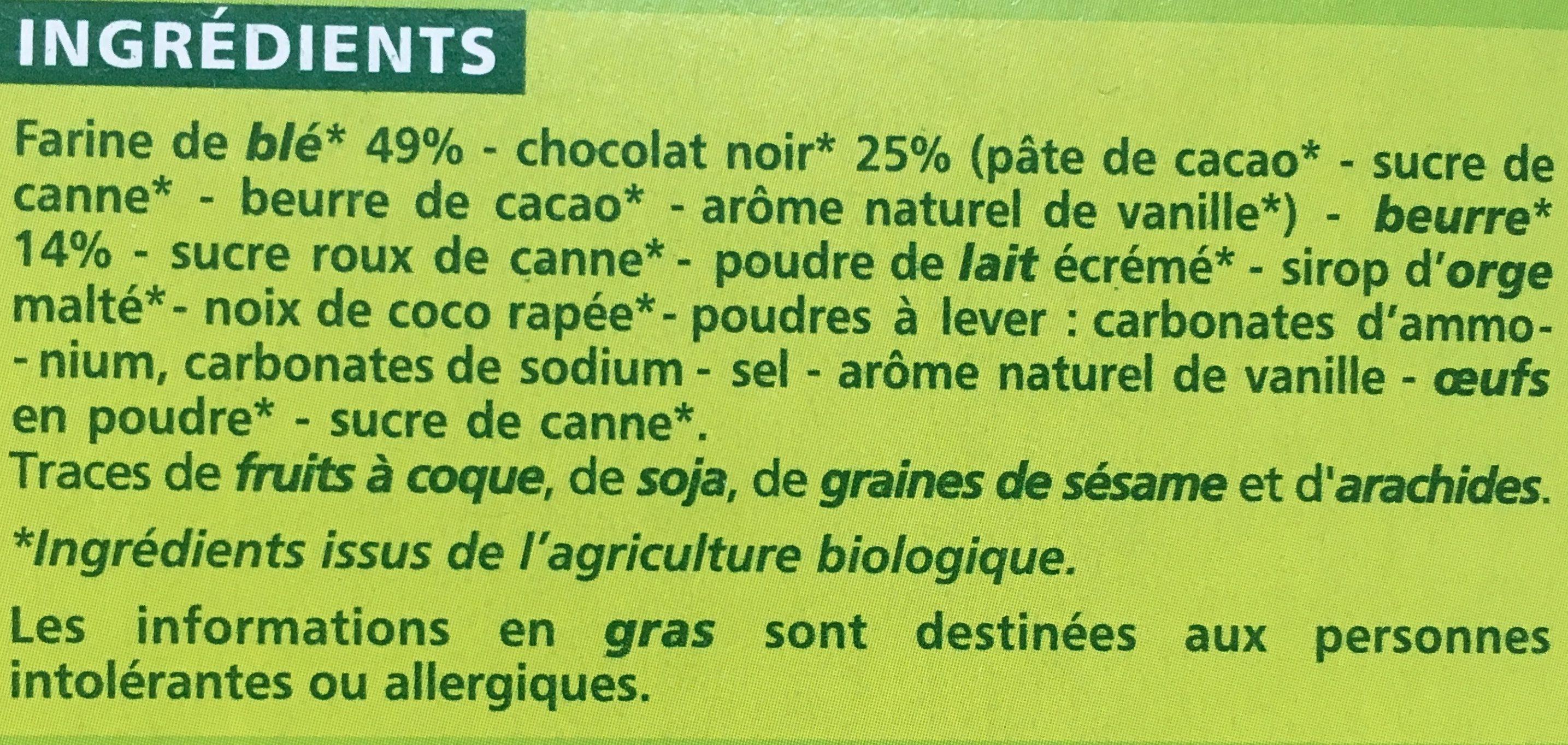 Sablés chocolat noir - Ingrédients