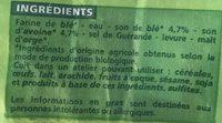 Pain aux 2 Sons Biologique - Ingredients