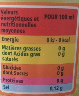 PUITS ST GEORGES CITRON Saveur citron vert- sans sucres - Informations nutritionnelles