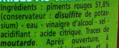 Mini Piments 140g Casino - Ingredients
