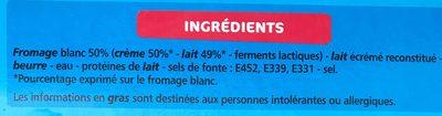 Les Petits Carrés - Ingredienti - fr
