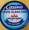 Thon albacore au naturel - Product