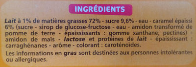 Flan au caramel coulant - Nutrition facts - fr