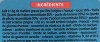 Petits Yaourts à Boire Fraise, Banane, Pêche, Abricot - Ingrédients - fr