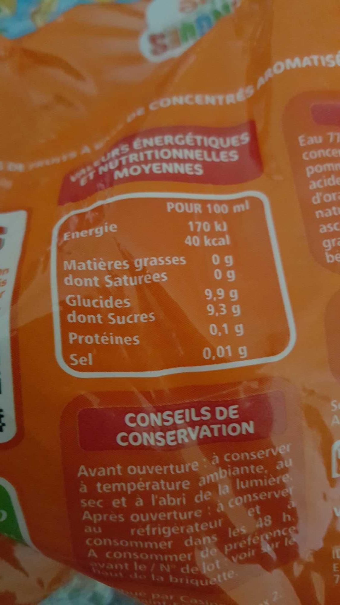 Boisson Orange - teneur en fruits 15% - Product - fr
