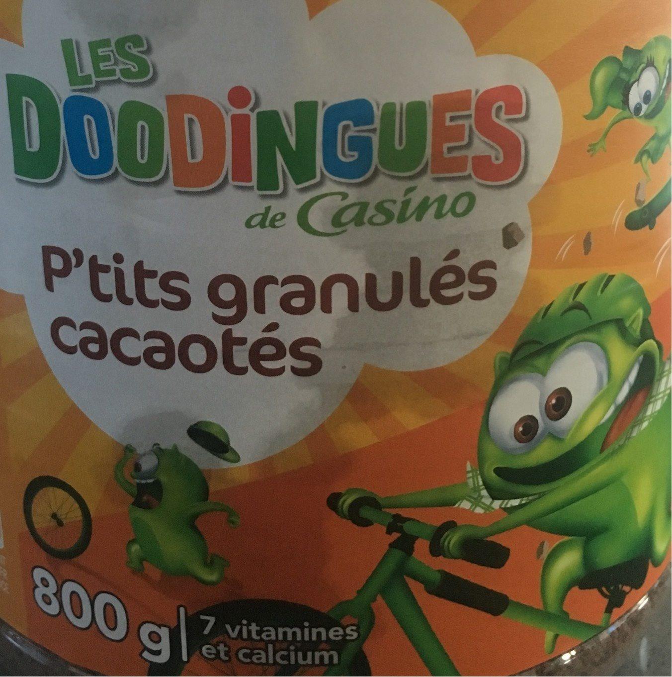 P'tits granulés cacaotés - 7 vitamines et calcium - les doodingues de casino - Product
