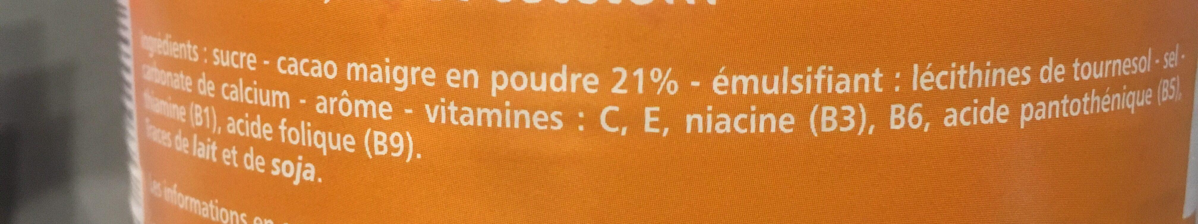 P'tits granulés cacaotés - 7 vitamines et calcium - les doodingues de casino - Ingredients