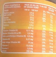 P'tits granulés cacaotés 400 g - 7 vitamines et calcium - les doodingues de casino - Informations nutritionnelles - fr