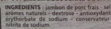 Jambon Supérieur découenné dégraissé - Ingrédients - fr