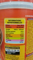 Couscous Royal poulet merguez - Nutrition facts
