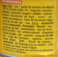 Ravioli au fromage sauce tomate - Ingrédients