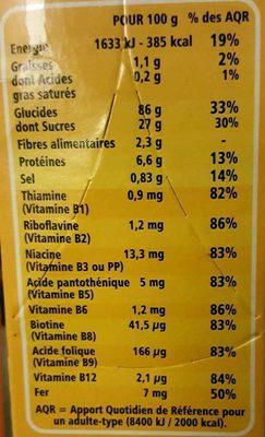 P'tites Billes Miel - Voedingswaarden - fr