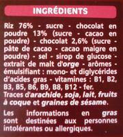 P'tits grains choco - Ingrédients - fr