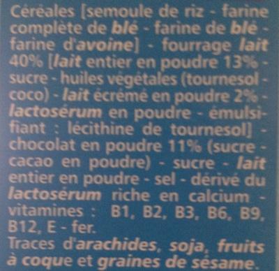 Fourés choc' coeur lait - Ingrédients