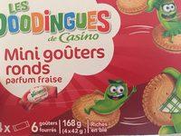 Mini Goûters Ronds Parfum Fraise - Produit - fr