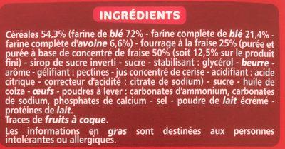 Mini Goûters Ronds Parfum Fraise - Ingrédients - fr