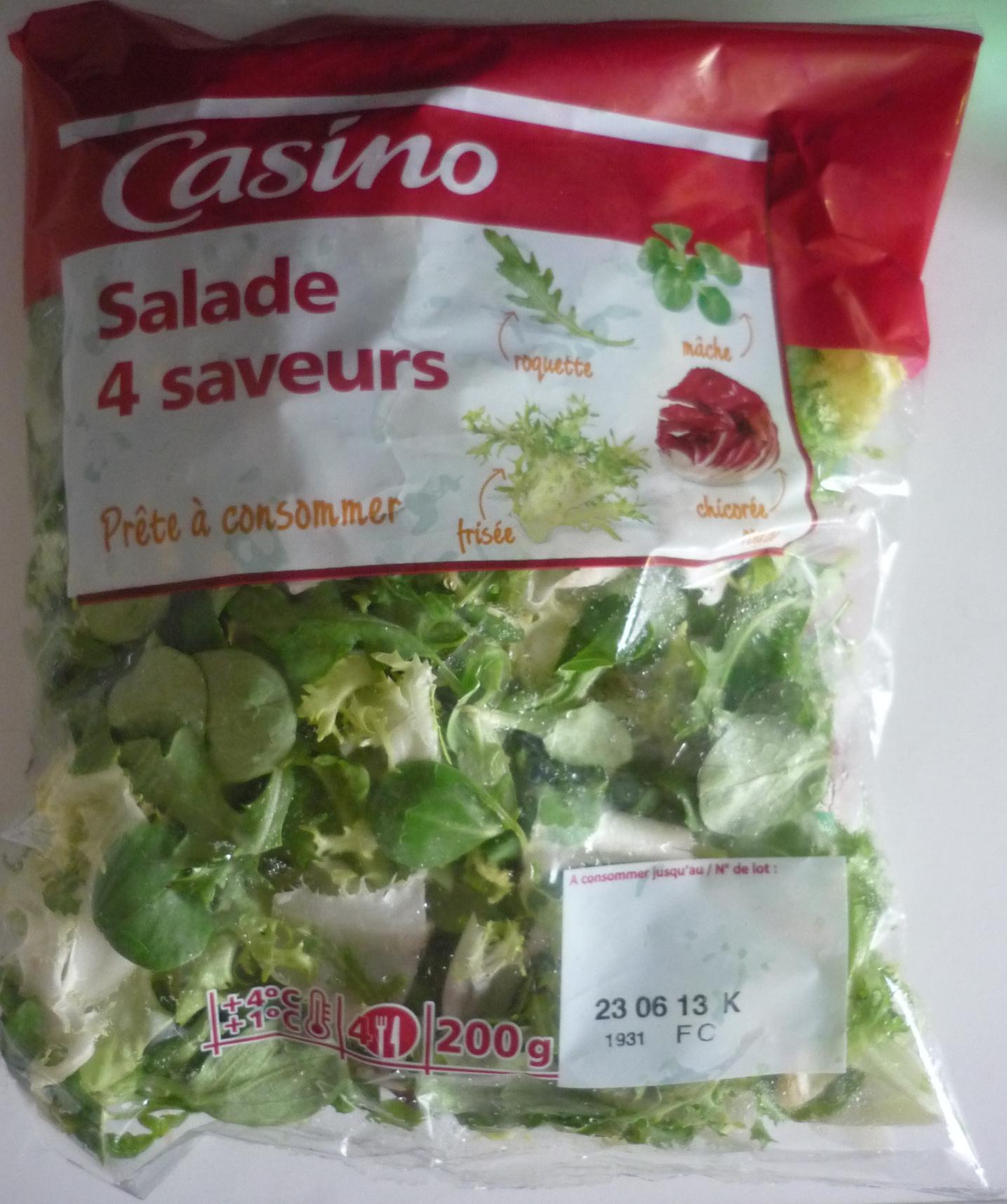 Salade 4 saveurs (4 portions) - Produit