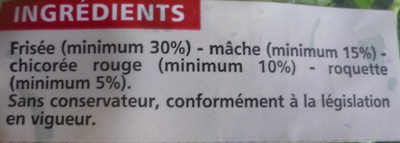 Salade 4 saveurs (4 portions) - Ingrédients